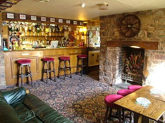 Bar & Lounge at Thelbridge Cross Inn, nr Crediton, Devon